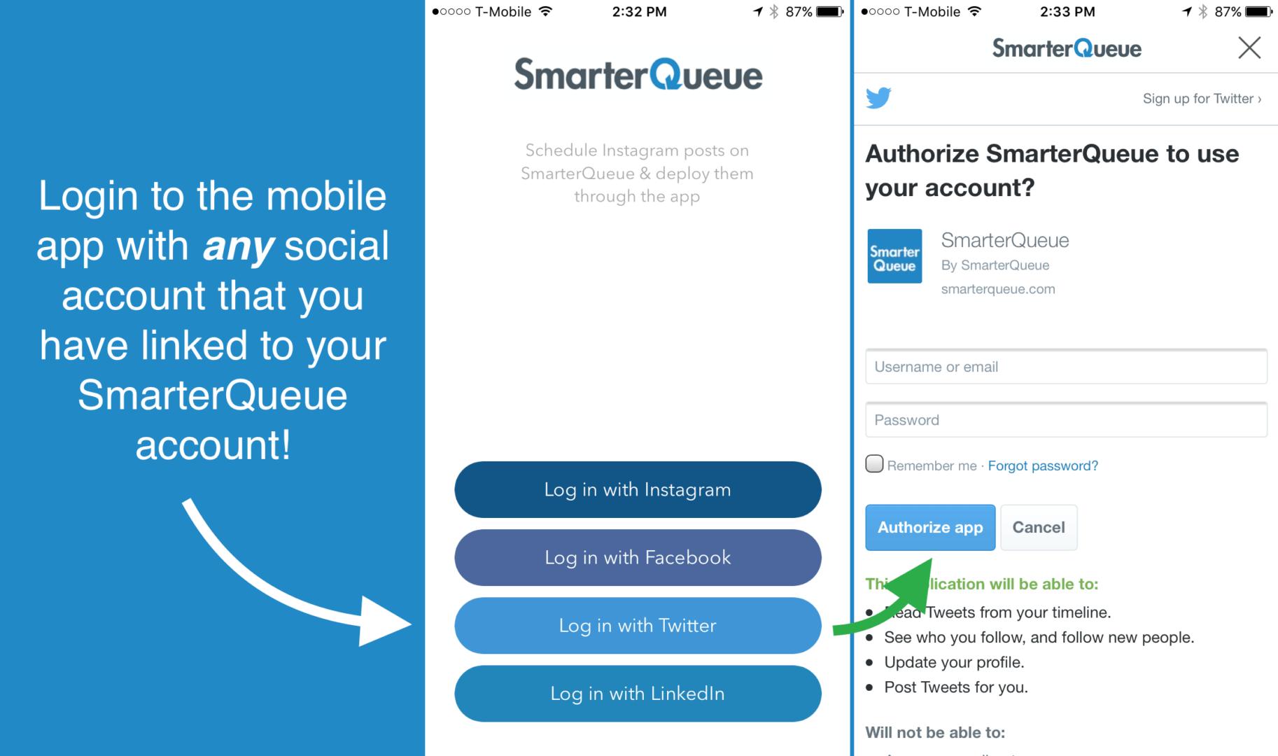 Mobile App Login > SmarterQueue