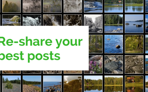 Content curation - find and re-share your best posts