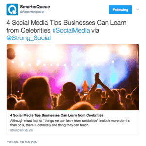 Twitter post showing value-added content