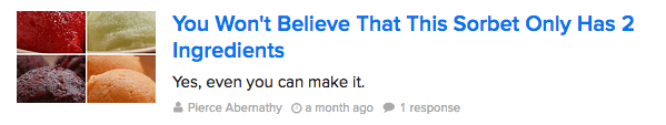 An example of a clickbait headline