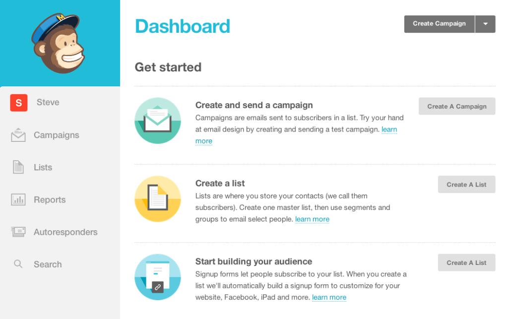 Free social media tool: MailChimp
