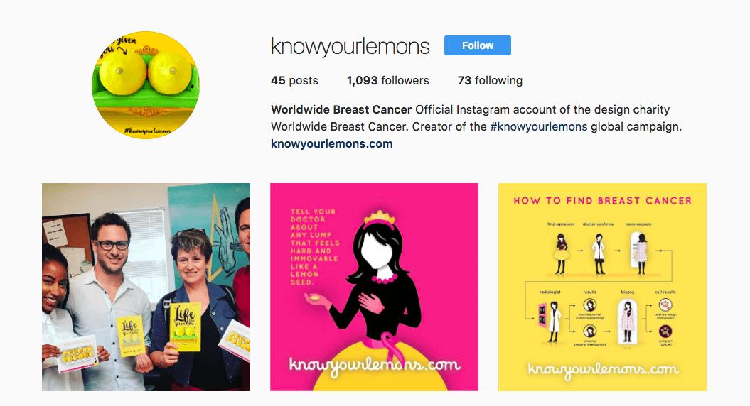 Customised posts on Instagram