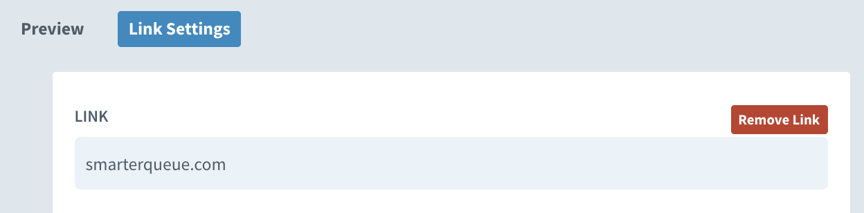 SmarterQueue link settings