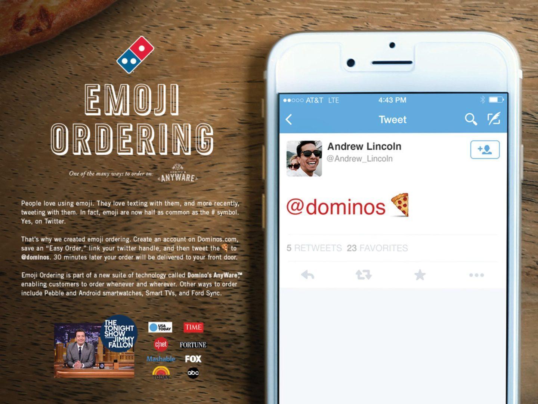 Dominos Emoji Marketing - Order Pizza with Emoji