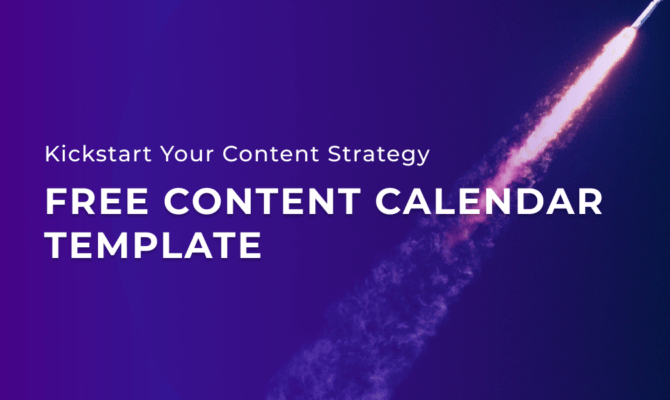 free content calendar template